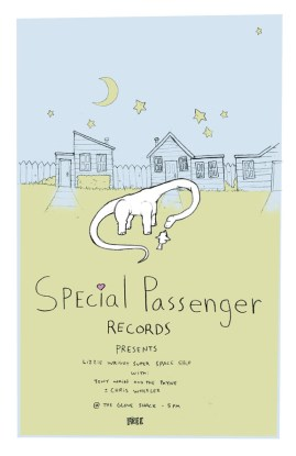 Special Passenger Records concert poster